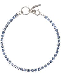 Justine Clenquet Ssense Exclusive Blue Kelsey Necklace