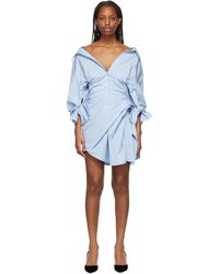 Alexander Wang - ブルー Cinched Waist ドレス - Lyst