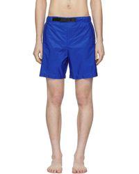 Prada - Blue Nylon Swim Shorts - Lyst
