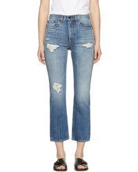Rag & Bone - Blue Ankle Straight Jeans - Lyst