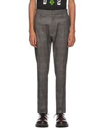DSquared² - Grey Check Cigarette Trousers - Lyst