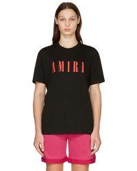 Amiri ブラック Core ロゴ T シャツ