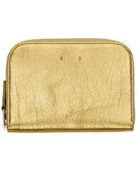 PB 0110 - Gold Zip Wallet - Lyst