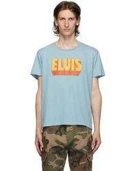R13 ブルー Elvis ロゴ Boy T シャツ