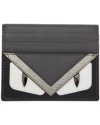 Fendi - Tricolor Bag Bugs Card Holder - Lyst