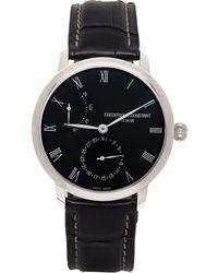 Frederique Constant ネイビー Slimline パワー リザーブ 腕時計 - ブラック