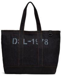 DIESEL インディゴ And ブラック D-thisbag ショッピング トート