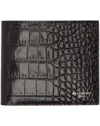 Givenchy | Black Croc Wallet | Lyst