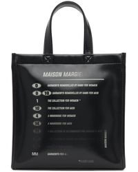 MM6 by Maison Martin Margiela - ブラック Motocross ロゴ トート - Lyst