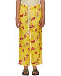 Loewe - Yellow Paulas Ibiza Edition Bird Pajama Pants - Lyst