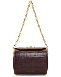 Alexander McQueen - Burgundy Croc Box Bag 19 Bag - Lyst