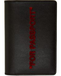 Off-White c/o Virgil Abloh - Black And Red Quote Passport Holder - Lyst