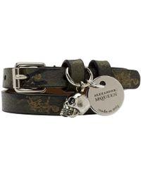 Alexander McQueen - Khaki Camo Double-wrap Skull Bracelet - Lyst