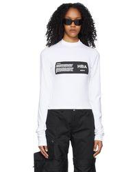 Hood By Air T-shirt à manches longues blanc à logo