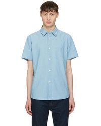 A.P.C. Indigo Chambray Bryan Shirt - Blue