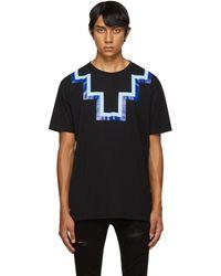 Marcelo Burlon ブラック & ブルー Cross T シャツ