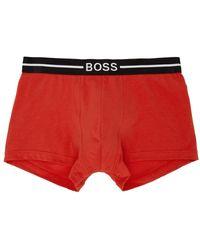 BOSS by HUGO BOSS マルチカラー オーガニック コットン ボクサー ブリーフ 3 枚セット - レッド