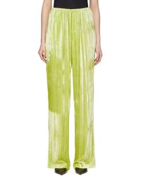 Balenciaga イエロー ベルベット パジャマ スーツ トラウザーズ - マルチカラー