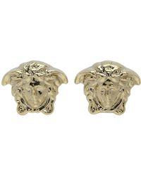 Versace - Gold Mini Medusa Earrings - Lyst