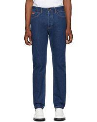 CALVIN KLEIN JEANS EST. 1978 Blue Logo Narrow Jeans