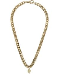 Marcelo Burlon Gold Cross Chain Necklace - Metallic