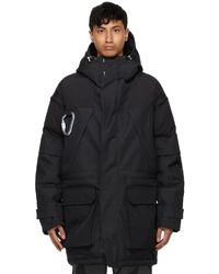 HELIOT EMIL Black Padded Expedition Parka