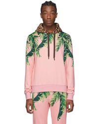 Dolce & Gabbana - ピンク フローラル And レオパード フーディ - Lyst