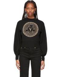 Versace Jeans Couture ブラック V-emblem ロゴ セーター
