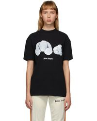 Palm Angels T-shirt oversize à logo imprimé - Noir