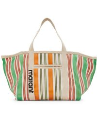 Isabel Marant White And Green Warden Tote