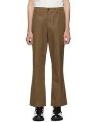 Lemaire Pantalon chinos brun - Marron