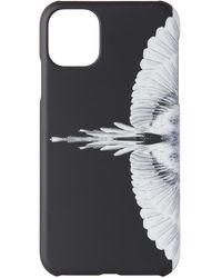 Marcelo Burlon ブラック & ホワイト Wings Iphone 11 ケース