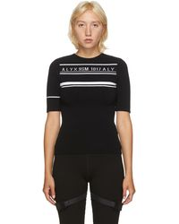 1017 ALYX 9SM ブラック ロゴ ニット セーター
