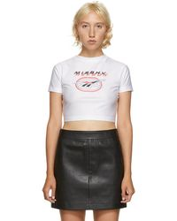MISBHV White Reebok Edition Cropped T-shirt