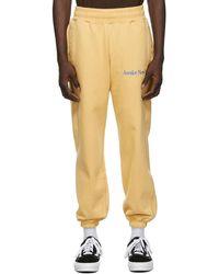 AWAKE NY Pantalon de survêtement jaune Classic Outline Logo