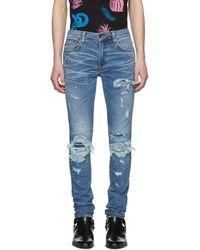 Amiri - Indigo Super Repair Jeans - Lyst