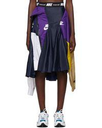 Nike Sacai Edition ネイビー And パープル W Nrg Ga Ni-03 スカート - ブラック