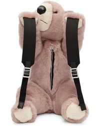 Dolce & Gabbana - Pink Eco Fur Teddy Bear Backpack - Lyst