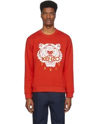 KENZO Pull molletonne rouge Classic Tiger Chinese New Year edition limitee