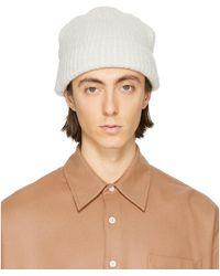 Our Legacy - Bonnet tricote blanc casse - Lyst