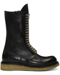 Rick Owens - Black Para Sole Army Boots - Lyst