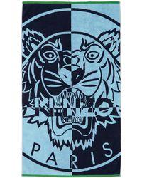 KENZO Blue Tiger Beach Towel