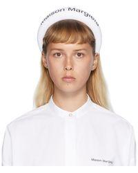MM6 by Maison Martin Margiela White Logo Headband