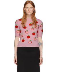 Gucci - Wool-jacquard Sweater - Lyst