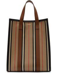 Burberry Icon Stripe E-canvas Portrait Tote Bag - Natural