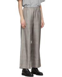 Totême Grey Silk Monogram Pj Lounge Pants