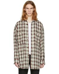 Faith Connexion - Green And Red Tweed Shirt - Lyst