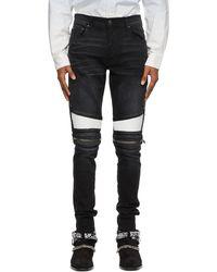 Amiri Black Mx2 Repair Jeans