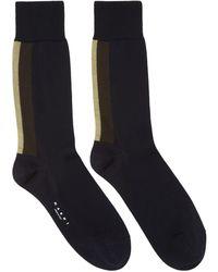 Marni - Navy Stripe Socks - Lyst
