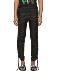 KTZ - Black Drawstring Corded Lounge Pants - Lyst